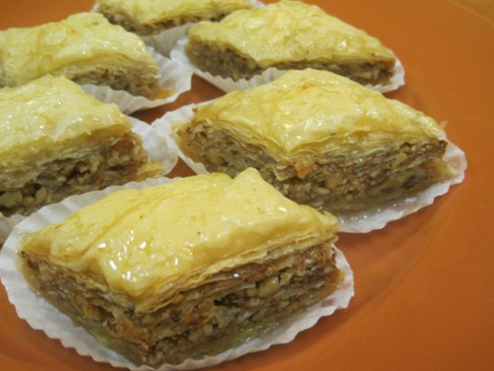 We are now taking orders for Baklava